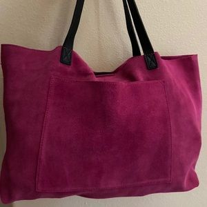 SOLD Suede tote